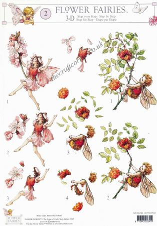 Flower Fairy 2 Almond Blossom by Cicely Mary Barker 3d Decoupage Sheet